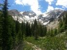 Mount Sopris on way to third Lake