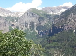 Bridal Veil Falls as seen from Jed Wiebe Trail