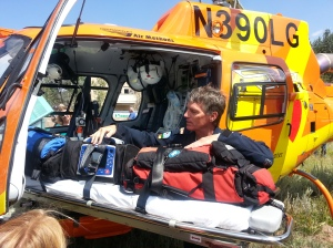 Lifesaving Equipment inside MRA Helicopter
