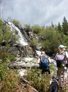waterfall on way to Carter Lake