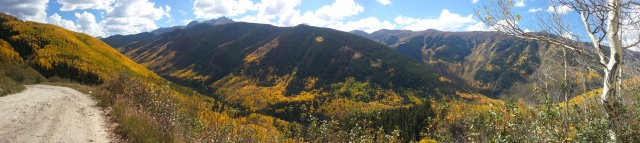 From the back side of Aspen Mountain