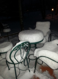 Nov 2014 snow on patio
