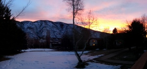 Winter sunset in Basalt