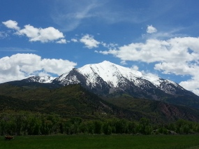 Mt Sopris outside Carbondale