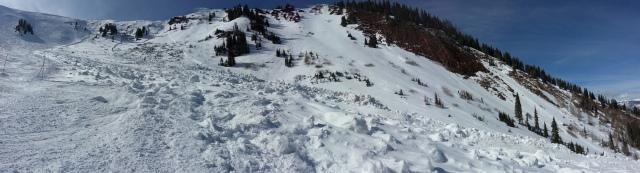 Highlands bowl slide panorama